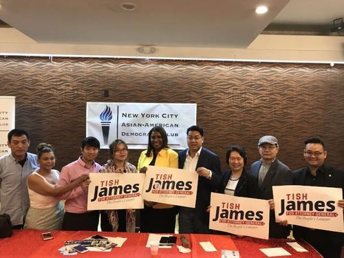 詹乐霞竞选纽约州检察长获亚裔民主党俱乐部支持