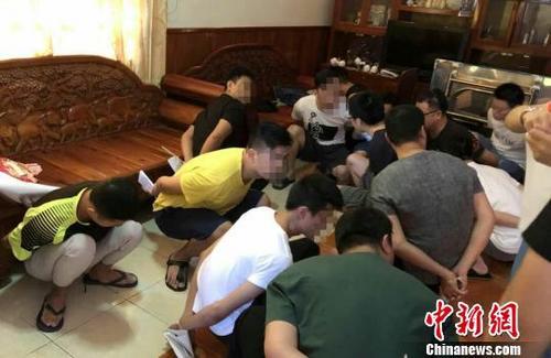 中国侨网图为抓捕现场。警方提供