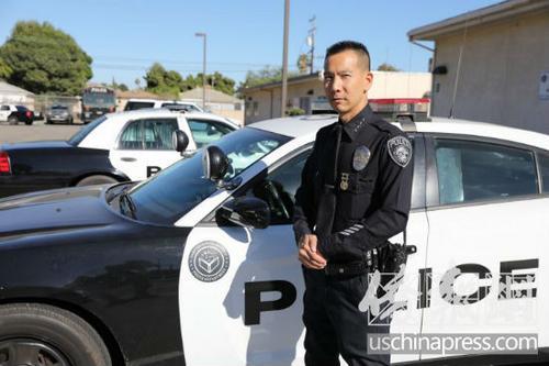 美国洛杉矶警察局_弃律师职业当警察 美国华裔警察服务社区20年-中国侨网