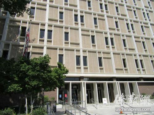 中国侨网波莫纳高等法院。(美国《侨报》/翁羽 摄)
