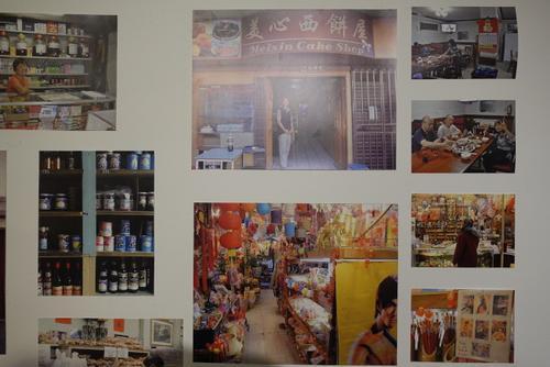 中国侨网展览记录世界13个城市唐人街风貌。(美国《世界日报》记者 金春香 摄)