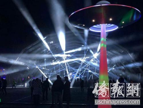 中国侨网跨年电音节Countdown现场。(美国《侨报》/王珂莹摄)