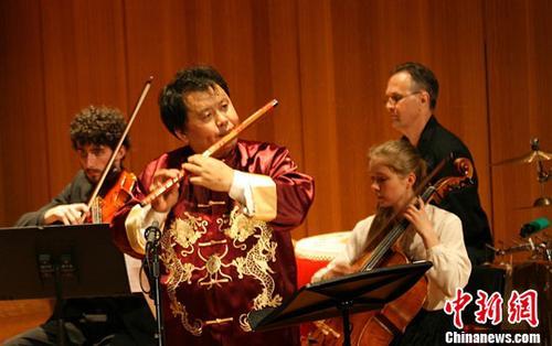 中国侨网资料图,柴长宁博士笛子演奏专场音乐会在悉尼举行。中新社发 沙长华 摄
