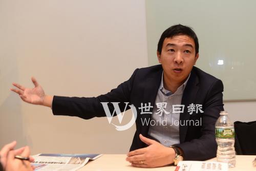 美国华人杨安泽竞选总统 已收到65000笔个人捐款