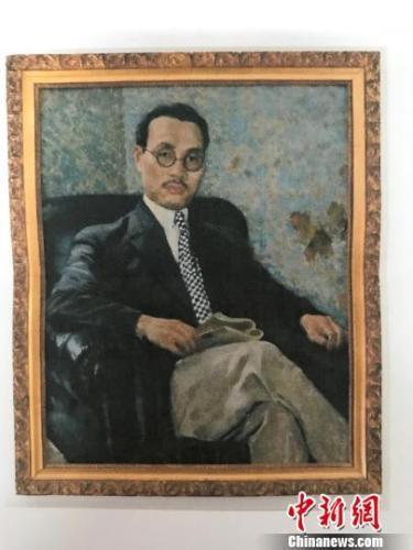 中国侨网资料图:徐悲鸿油画《陈铭枢画像》。程景伟 摄
