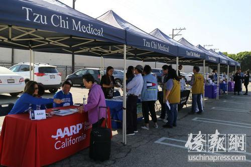 美加州艾尔蒙地慈济医疗中心义诊吸引数百名华人