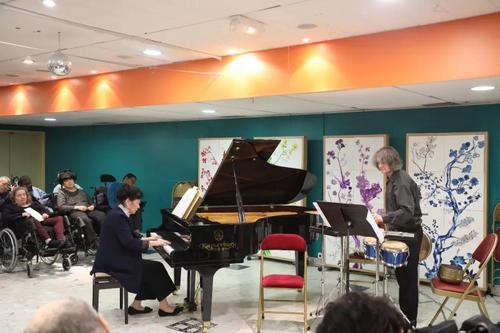 中国侨网音乐会现场。(法国《欧洲时报》/孔帆 摄)