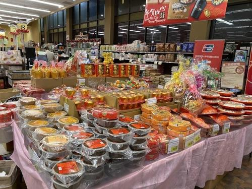 春节将至旧金山多家商场卖年货鼠年元素装饰年味浓