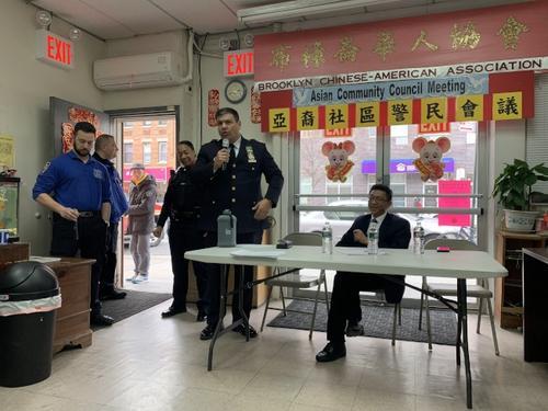 纽约华人区警局局长:不允许攻击戴口罩的华裔