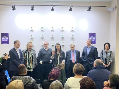 紐約州華裔眾議員牛毓琳競選連任多個官員背書支持