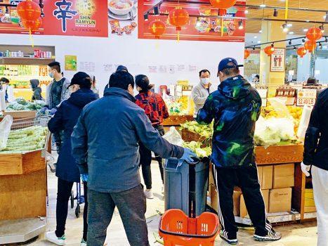纽约皇后区95%华人超市重新开业商家注重防疫