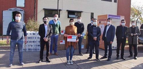 阿根廷华人网:华侨华人向基尔梅斯市捐赠抗疫物资