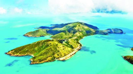 挂牌出售的凯西克岛俯视图.(澳洲新快网)