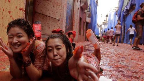 """西班牙瞄准中国游客西红柿大战或成引客利器"""""""