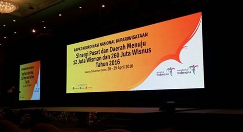 印尼旅游部的发展指标:引进外国旅客1千200万人,国内旅客2亿6千万人。(印尼《星洲日报》/吴璨光