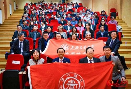 中国侨网出席论坛的中法人士合影