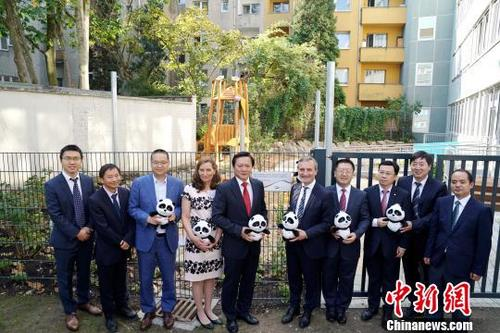 中国侨网出席开园仪式的嘉宾 彭大伟 摄