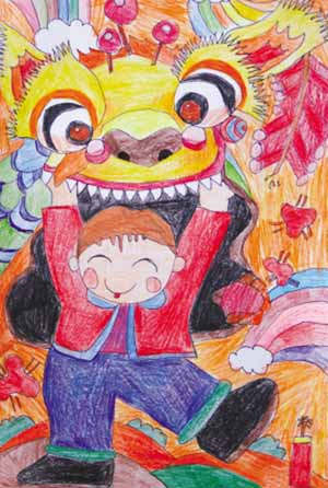 农场_美国侨报主办欢度春节南加华裔少年儿童绘画比赛