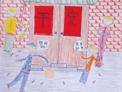 美国侨报主办欢度春节南加华裔少年儿童绘画比赛
