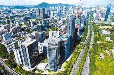中国侨网深圳科技园汇聚一大批新兴企业。毛思倩摄(新华社发)