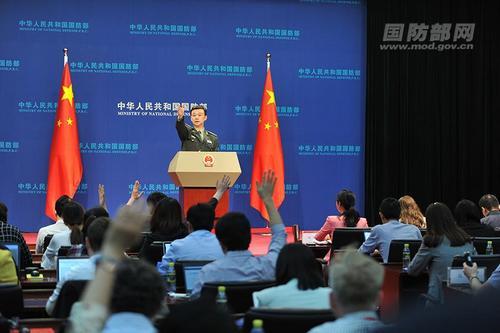 中国侨网国防部新闻局局长、国防部新闻发言人吴谦。李爱明 摄 图片来源:国防部网站