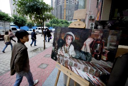 油画远销东南亚、欧美、非洲、澳洲等的几十个国家和地区,20
