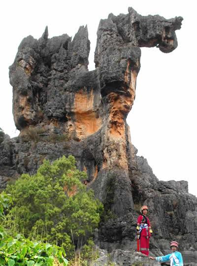云南 黑色石林 景色迷人