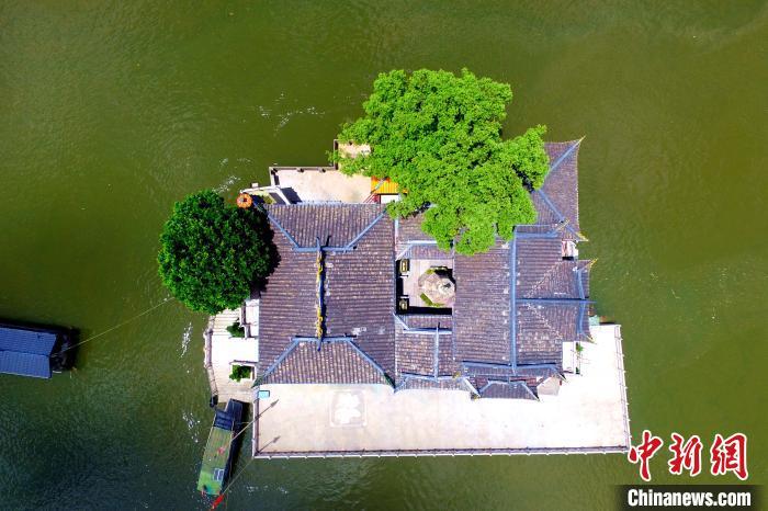 航拍福州水上唯一寺庙——金山寺