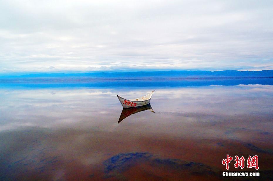 """航拍青海茶卡盐湖 """"天空之镜""""美妙绝伦"""