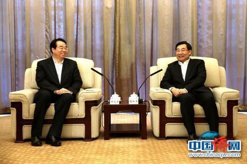 陕西省委书记胡和平、省长刘国中会见许又声