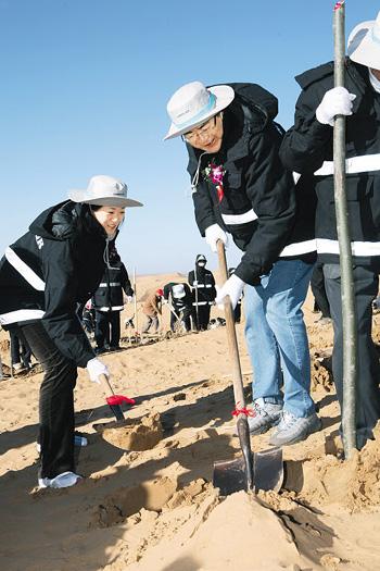 大韩航空将在中国内蒙古库布齐沙漠建绿色生态园