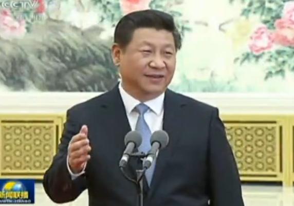 习近平会见第七届世界华侨华人社团<br>联谊大会代表