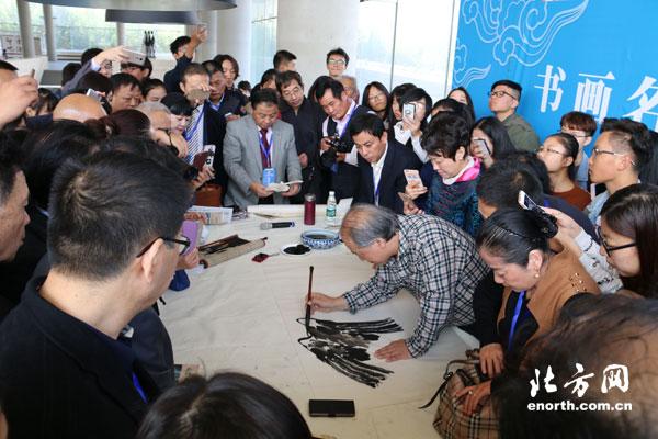 华人书画展举行书画名家讲座