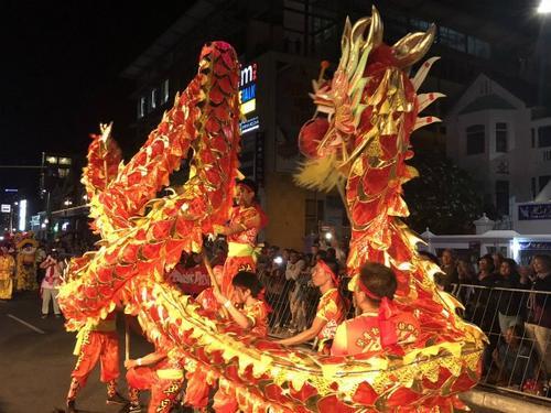 """开普敦华星艺术团亮相狂欢节 舞动""""中国龙"""""""