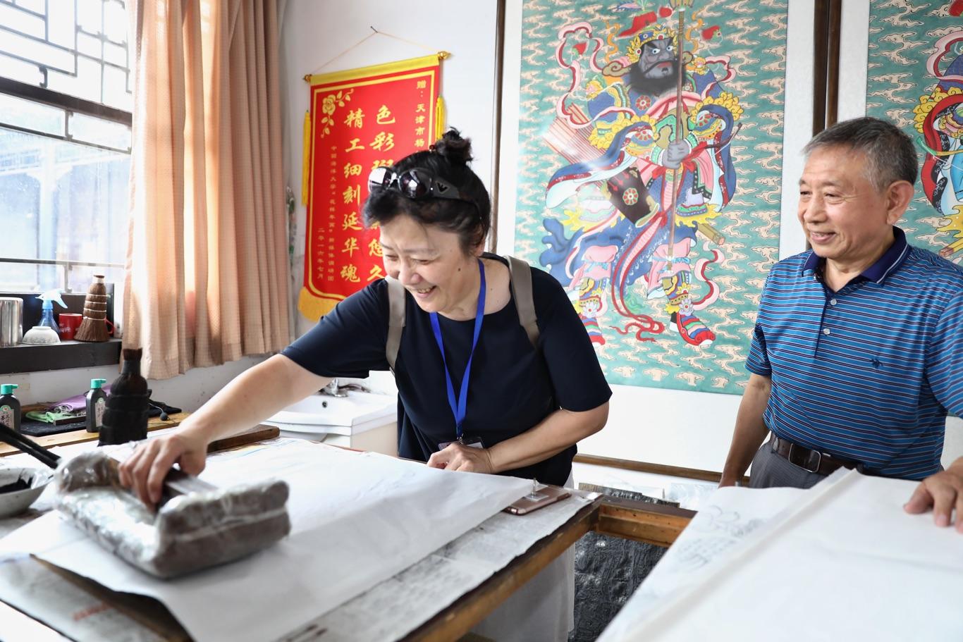 海外华媒体验天津西青传统文化