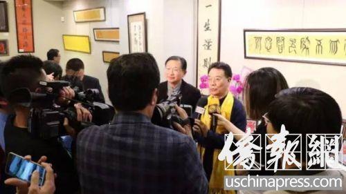 中国侨网两名受访对象,左侧为孙晓华,右侧为鲁安。(美国《侨报》资料图)