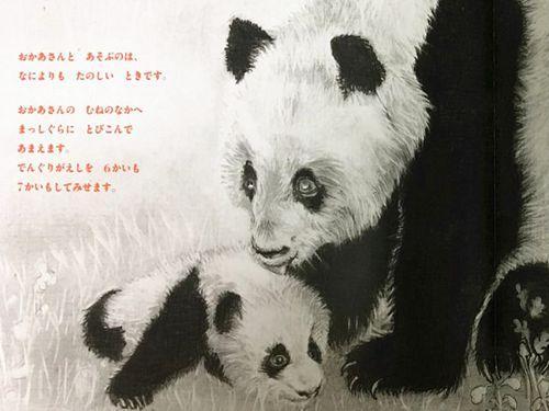 日本铅笔画画家木下晋作画的讲谈社绘本新书《森林的熊猫》在日发售的