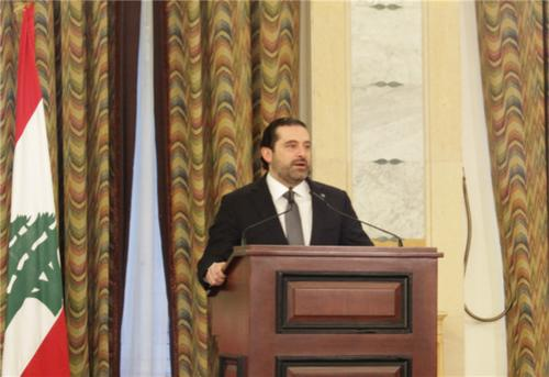 中国侨网黎巴嫩总理萨阿德・哈里里出席签字仪式并致辞。