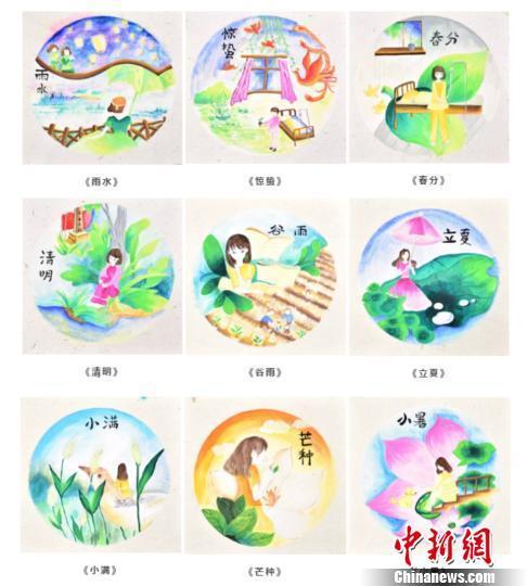 浙江台州12岁重症女孩手绘二十四节气图 感悟生命真谛