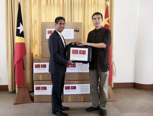 中国驻东帝汶使馆向东帝汶政府捐赠防疫物资