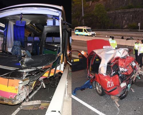 香港旅游大巴与出租车相撞 5人死亡31人受伤