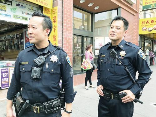 旧金山华埠徒步巡警人数破纪录监督治安打击犯罪-中国侨网