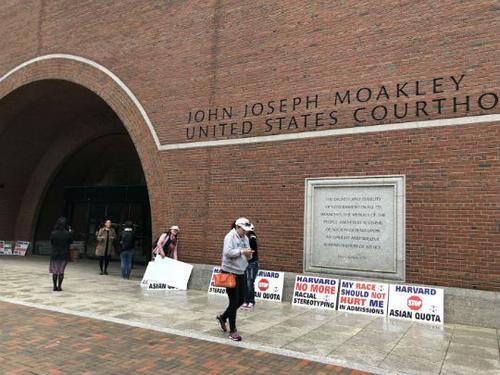 美国波士顿联邦法庭。(美国《侨报》/周颖 摄)