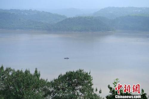 图为长江水位持续升高。 陈超 摄